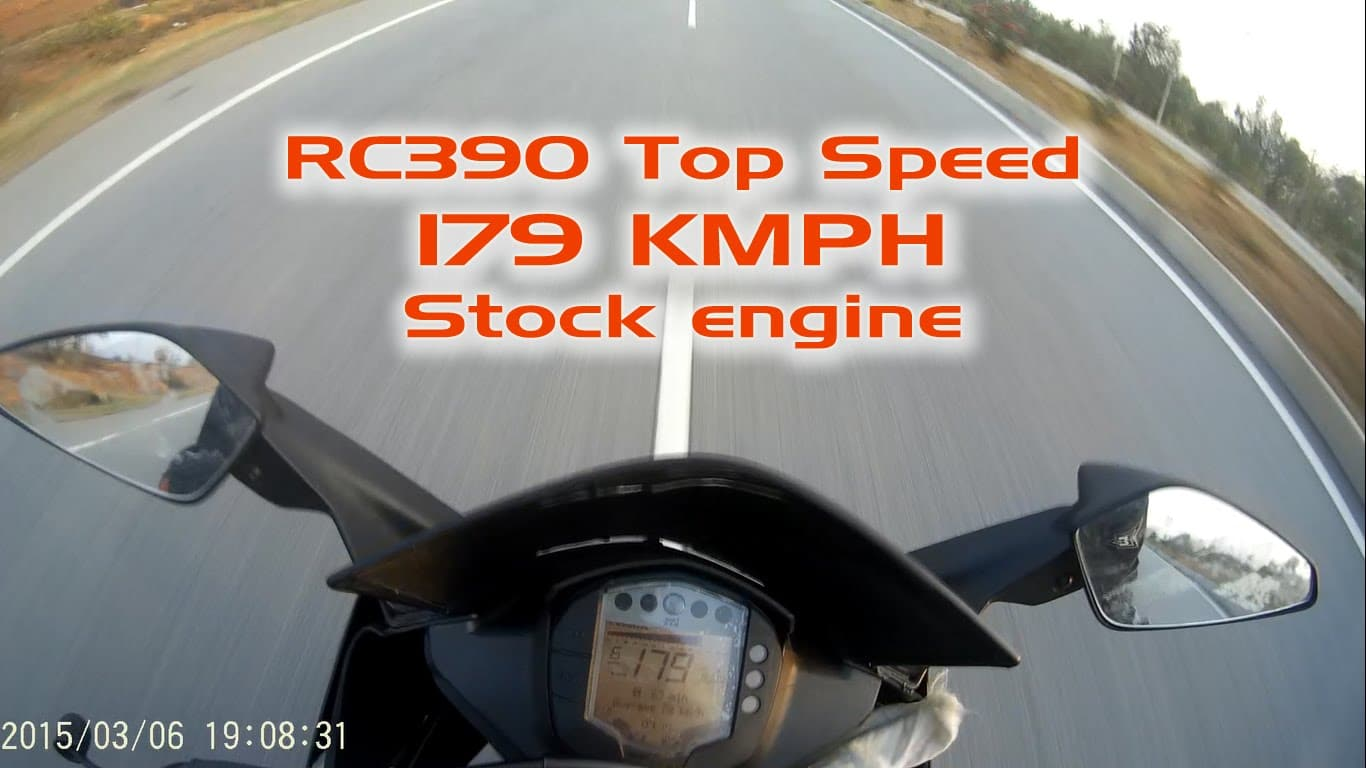 KTM RC390 Top speed – 179kmph – India